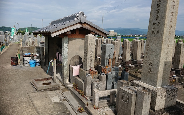 八幡市営隅田墓地−給水設備