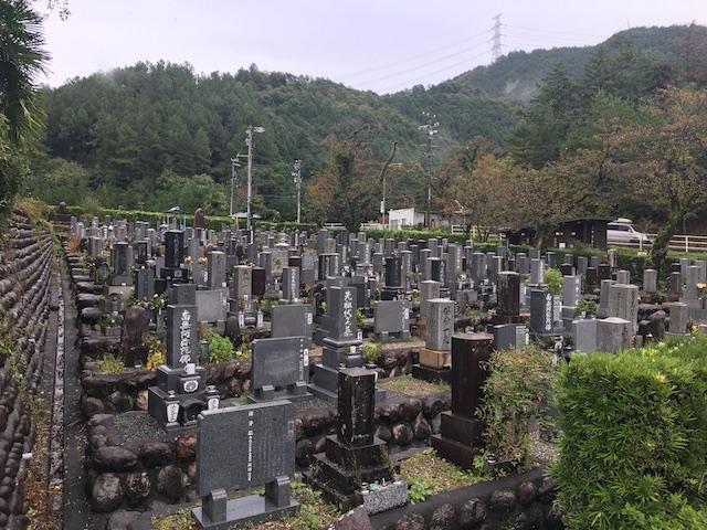 美濃市営乙女坂墓地-霊園全体