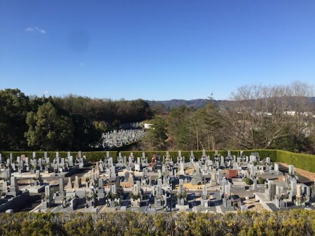 名張市営 東山霊園−霊園全体写真