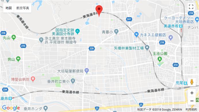 大垣市営青野霊園地図