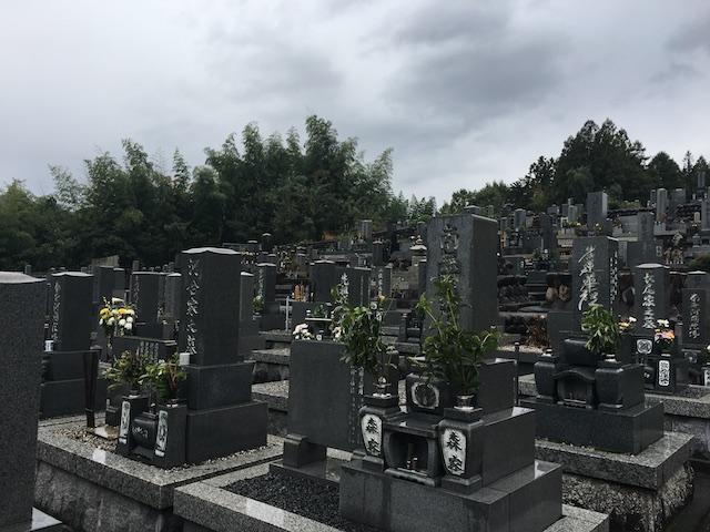美濃市営乙女坂墓地-園内全体