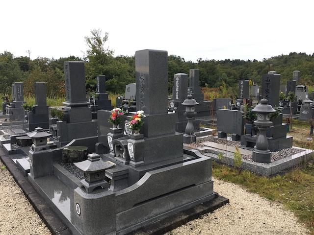 土岐市営駄知墓地公園-通常区画全体