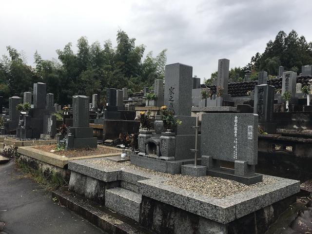 美濃市営乙女坂墓地-墓-通常区画全体