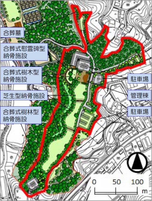 横浜市営(仮称)舞岡墓園−配置図 2