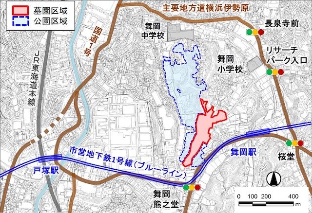 横浜市営(仮称)舞岡墓園−配置図