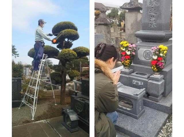 千葉県松戸市のお墓のお掃除、植木の手入れ、飯沼植木_08