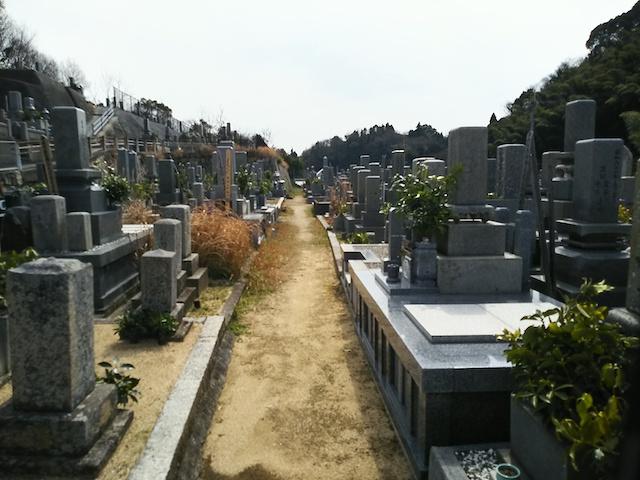 松山市営 大入谷墓地01
