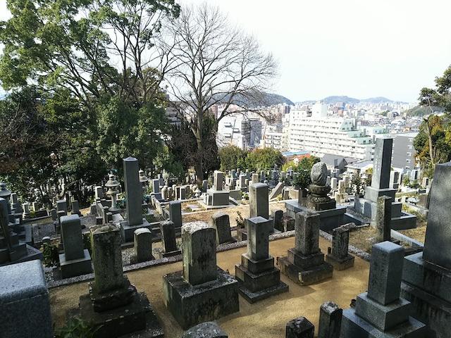 松山市営 鷺谷墓地01