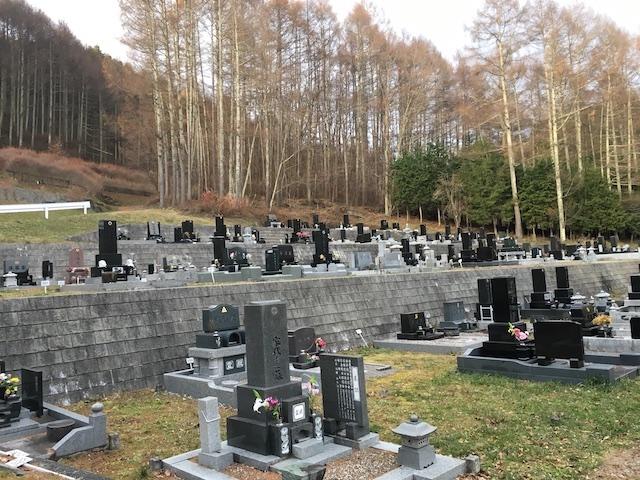 諏訪市営 角間新田墓地01