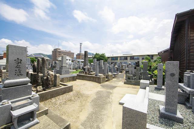 新品治墓地(学成寺)2