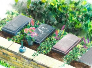 泰平寺霊園樹木葬・HEALING GARDEN_夫婦永代供養墓「月-つき-」