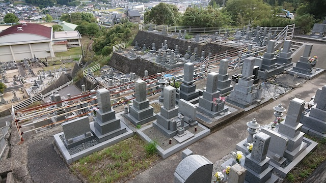 広島市営前原墓地 霊園全体